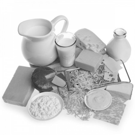 dairy products, including milk, cream, and various cheeses
